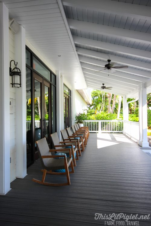 Luxury Family Travel at Hawks Cay Resort Porch in the Florida Keys // thislilpiglet.net