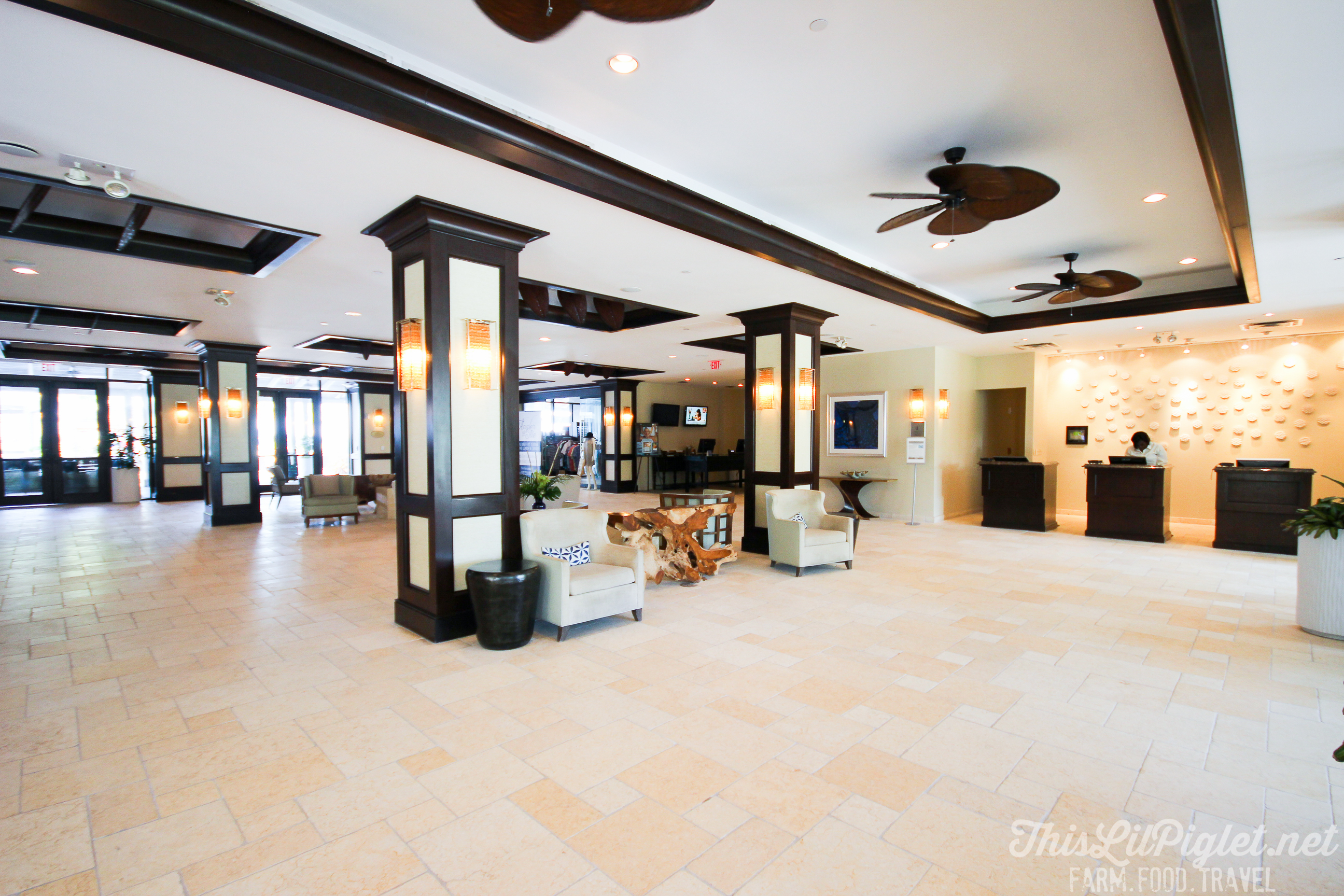 Luxury Family Travel at Hawks Cay Resort Lobby in the Florida Keys // thislilpiglet.net
