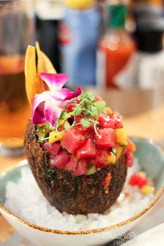 Luxury Family Travel at Hawks Cay Resort in the Florida Keys - Angler and Ale Watermelon Salad // thislilpiglet.net