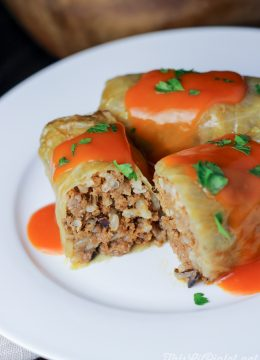 Sour Cabbage Rolls with Hamburger and Wild Rice in Tomato Sauce // thislilpiglet.net