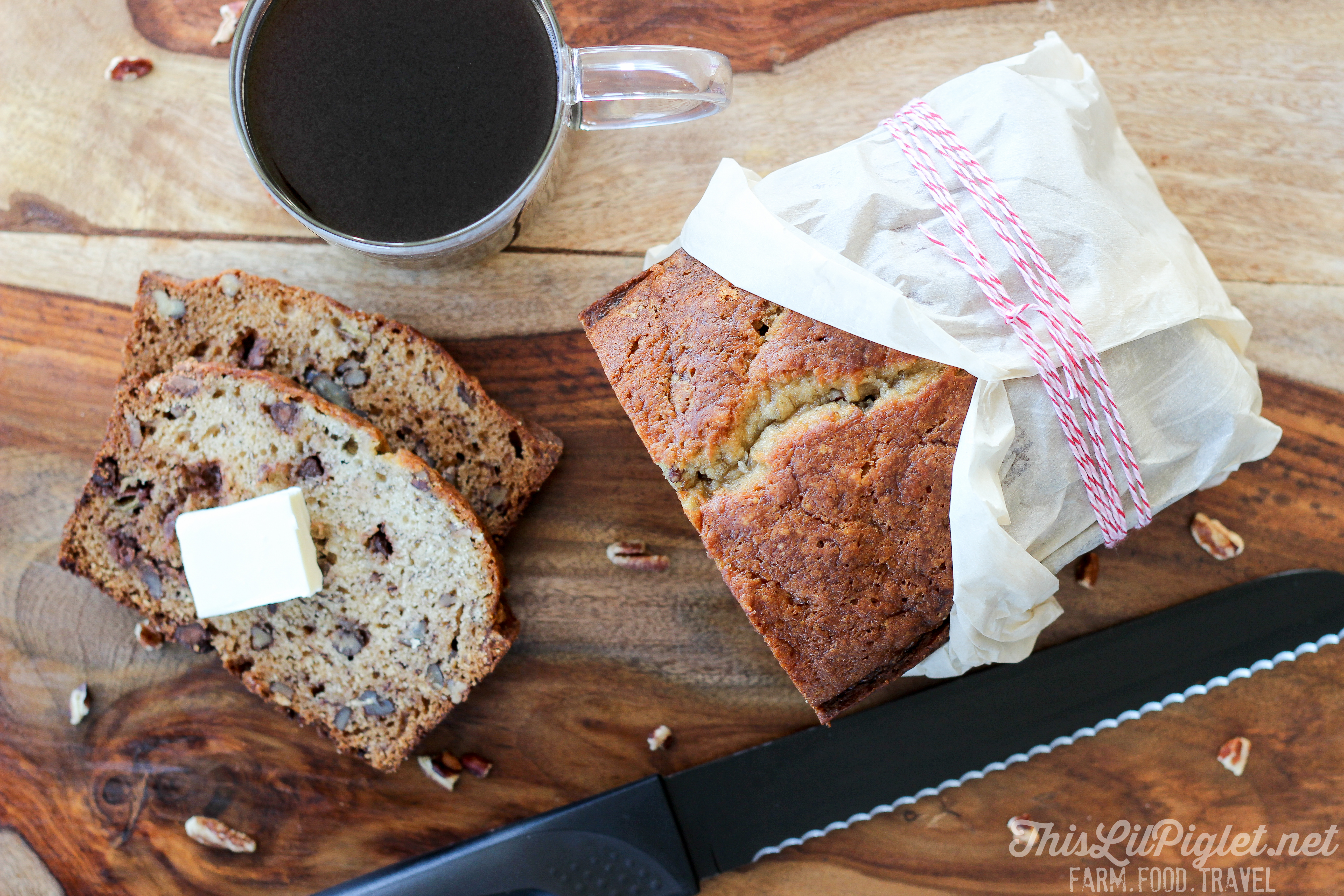 Chocolate Chip Banana Loaf // thislilpiglet.net