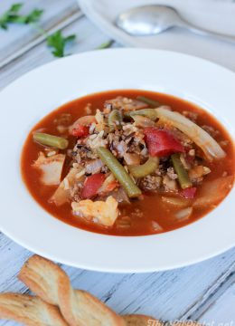 Deconstructed Cabbage Roll Soup with Wild Rice // thislilpiglet.net