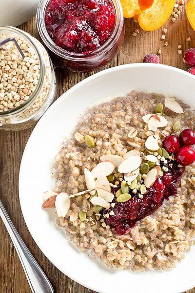Healthy Breakfast Ideas: Cranberry Buckwheat Porridge