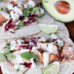 Marlin Fish Tacos with Lime Dill Sauce // thislilpiglet.net