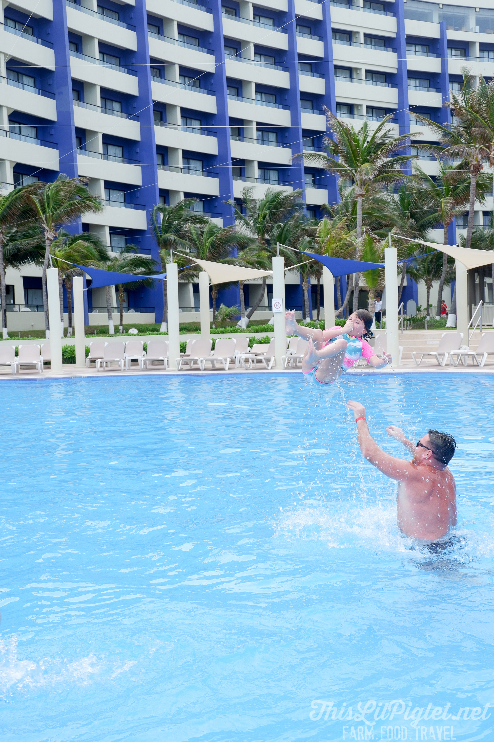 Family Vacations for All Ages at Cancun Paradise Club Resort: Things to Do - Swimming // thislilpiglet.net