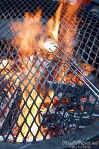 Winter Travel Bucket List: What to Do - Roasting Marshmallows at Apres Lounge Crazy Horse Bar and Grill at Horseshoe Resort // thislilpiglet.net
