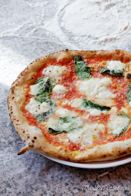 Winter Travel Bucket List: Where to Eat - Rustica Pizza Vino Wood-Fired Spinach and Mozzarella Pizza // thislilpiglet.net