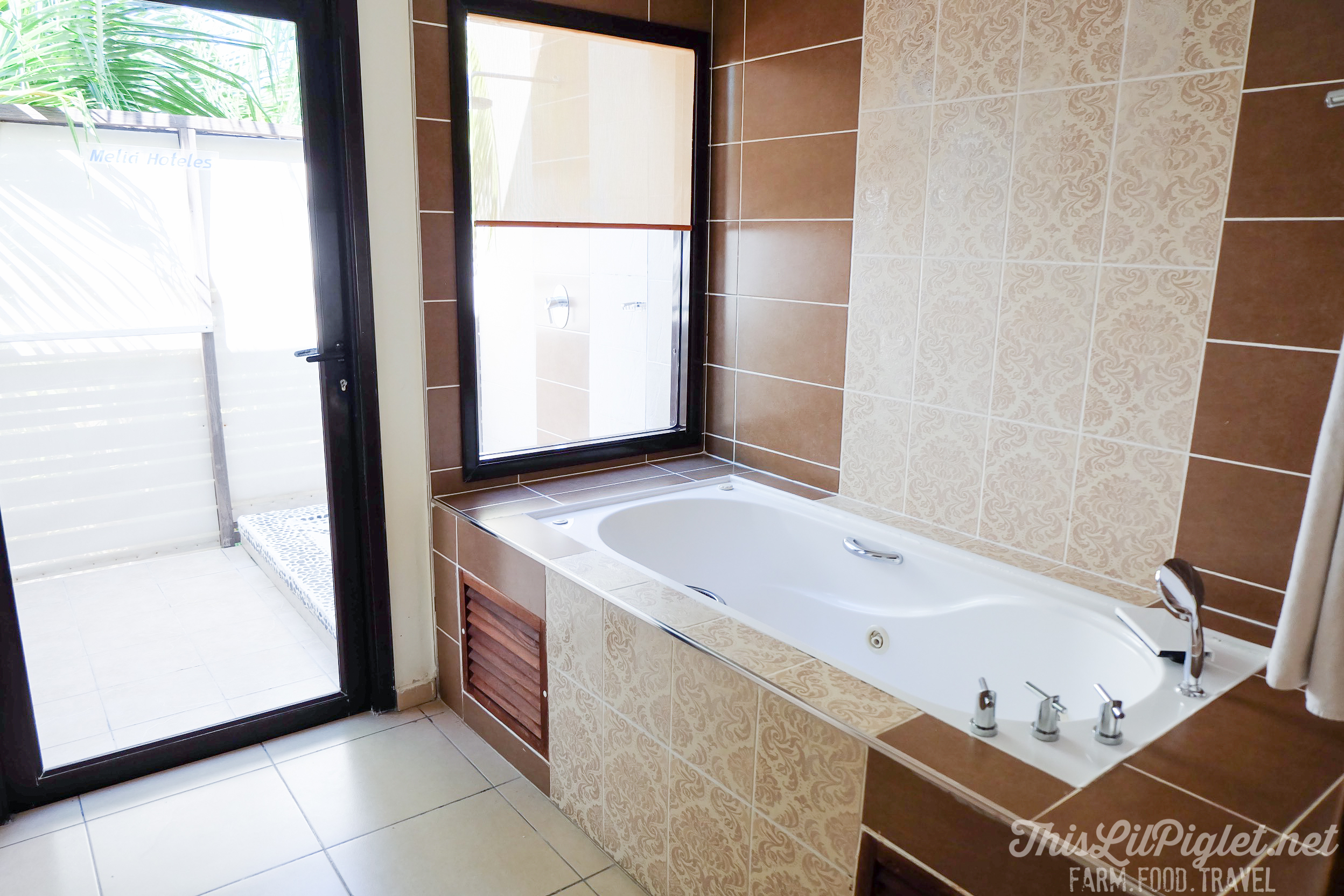 Cuba Couples Travel: Melia Buenavista Hotel Junior Suite Bath // thislilpiglet.net