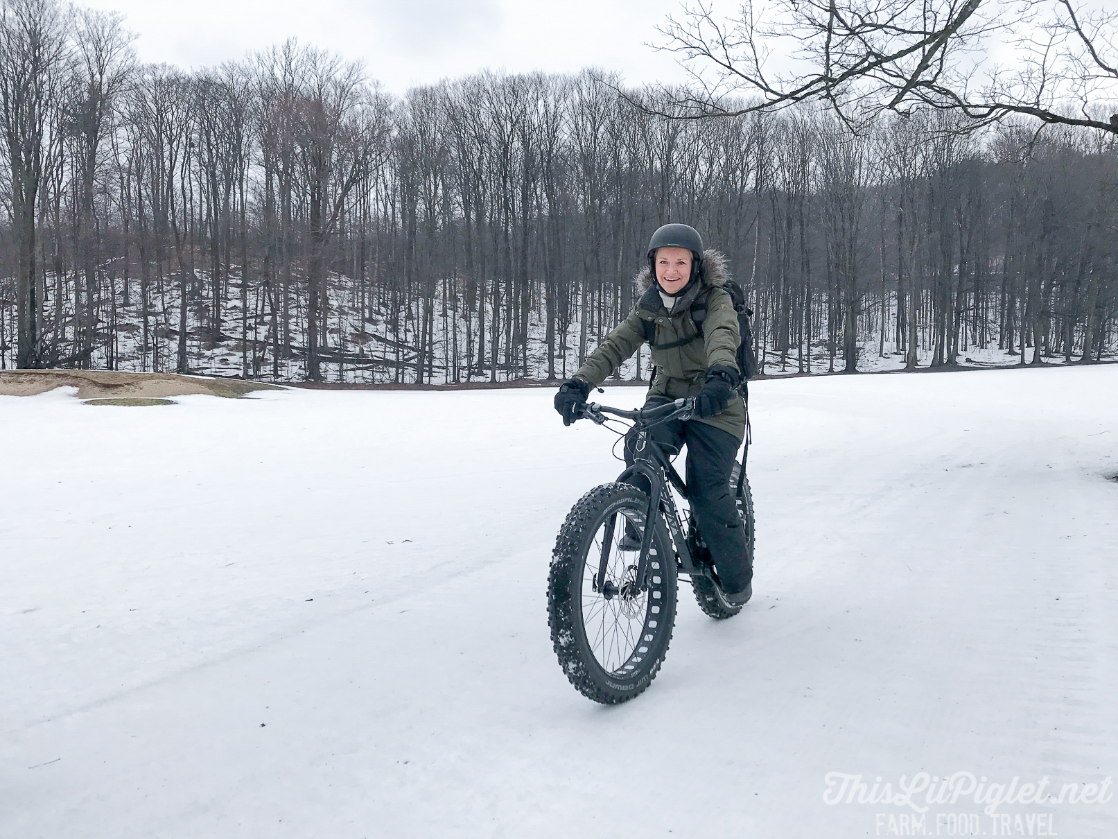 Girlfriend Getaways in Ontario's Lake Country - Fat Biking at Horseshoe Resort // thislilpiglet.net