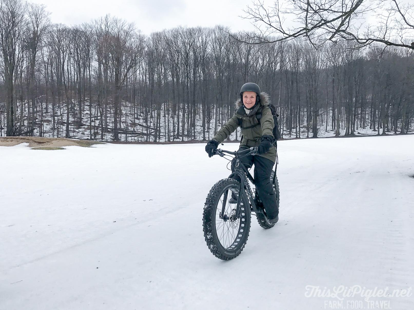 Girlfriend Getaways in Ontario's Lake Country - Fat Biking at Horseshoe Resort // thislilpiglet.net