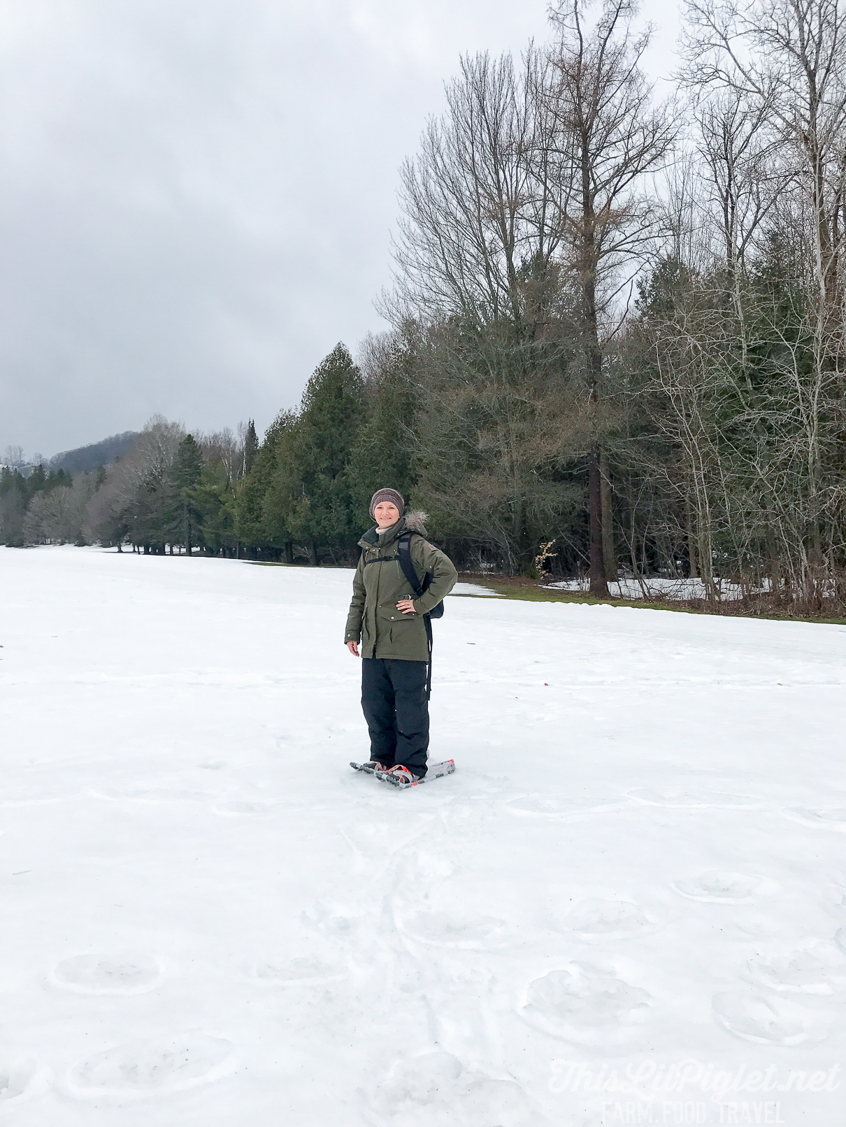Girlfriend Getaways in Ontario's Lake Country - Snowshoeing at Horseshoe Resort // thislilpiglet.net