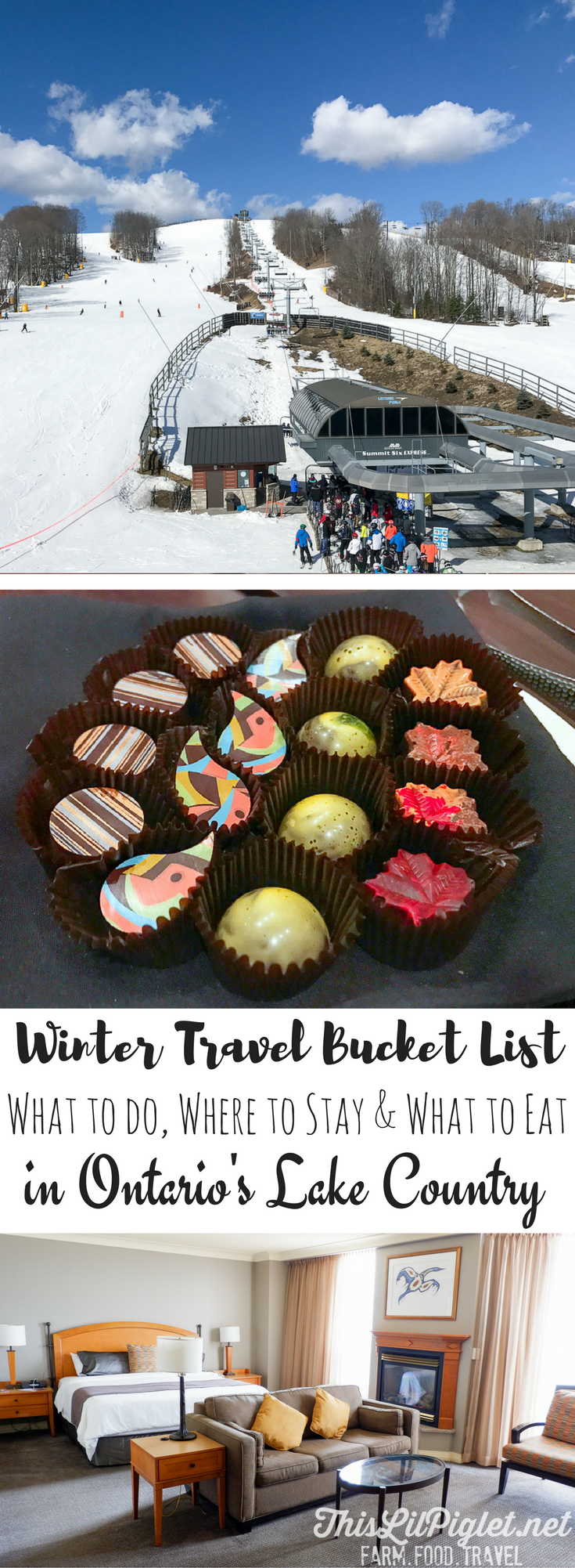 Winter Travel Bucket List: Where to Stay, What to Do and What to Eat in Ontario's Lake Country // thislilpiglet.net