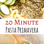 20 Minute Pasta Primavera with Pesto