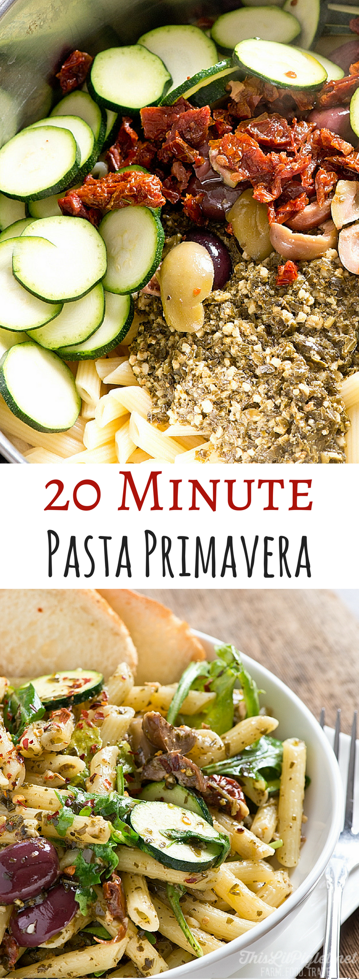 Easy 20 Minute Pasta Primavera // thislilpiglet.net