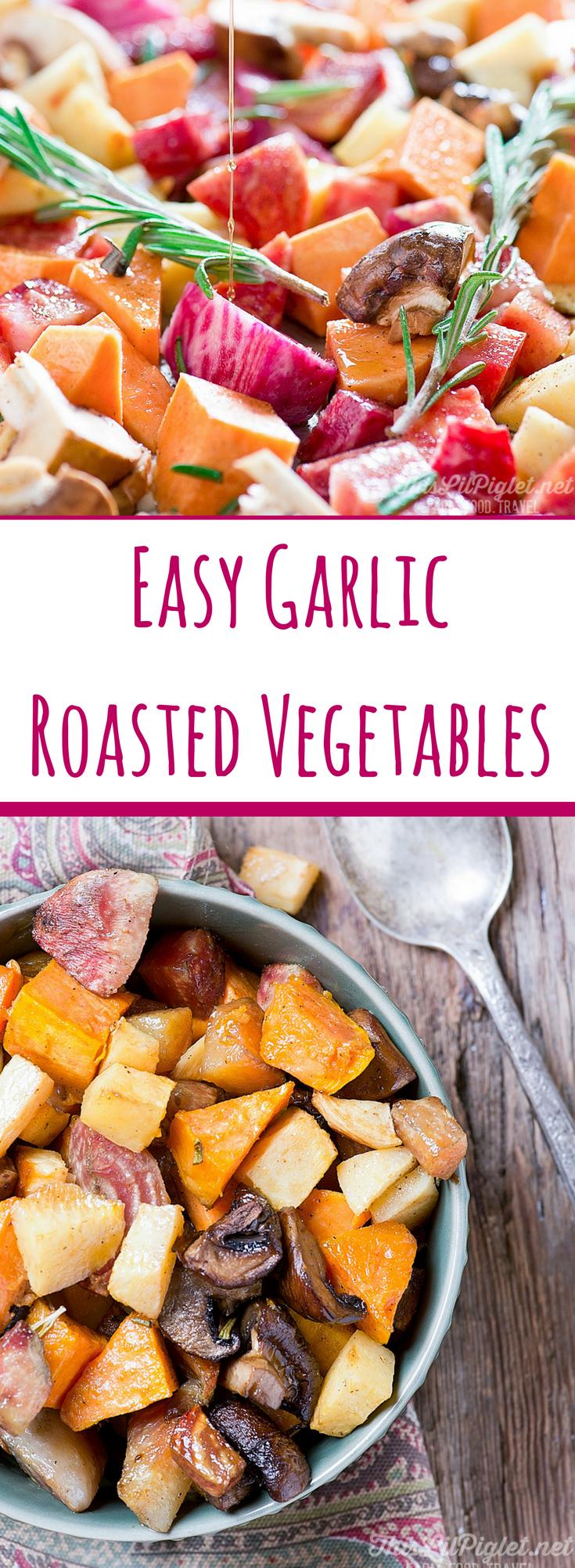 Garlic Roasted Vegetables Side Dish // thislilpiglet.net
