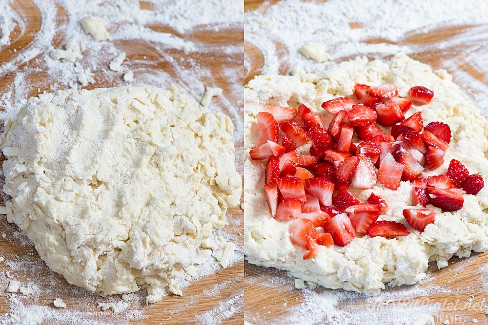Strawberry Buttermilk Skillet Scones Ingredients // thislilpiglet.net