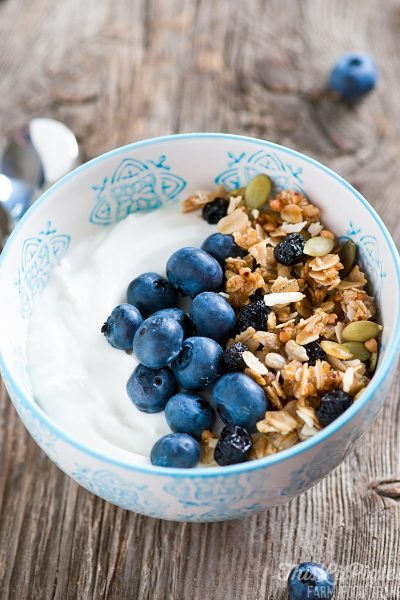Blueberry Kasha and Honey Homemade Granola