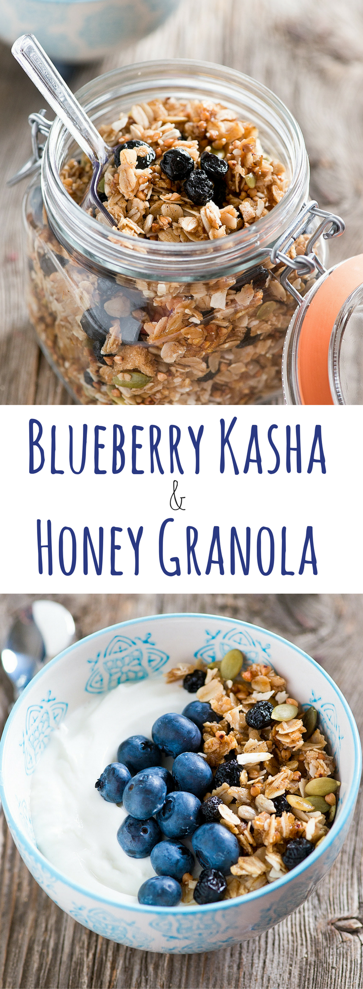 Blueberry Kasha Honey Granola // thislilpiglet.net