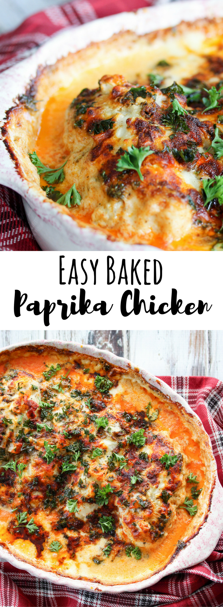 Easy Baked Paprika Chicken // thislilpiglet.net
