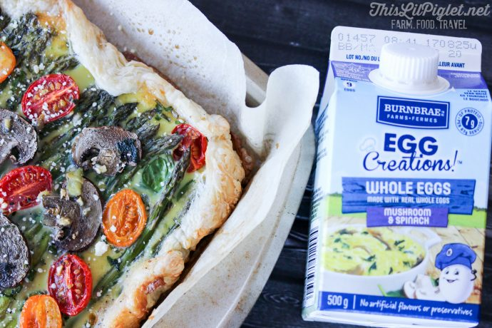 Tomato Asparagus Tart Easy Holiday Brunch with Liquid Eggs // thislilpiglet.net