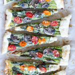 Tomato Asparagus Tart Brunch or Appetizer
