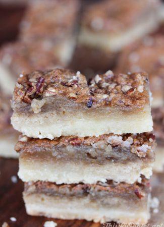 Butter Tart Pecan Bars // thislilpiglet.net