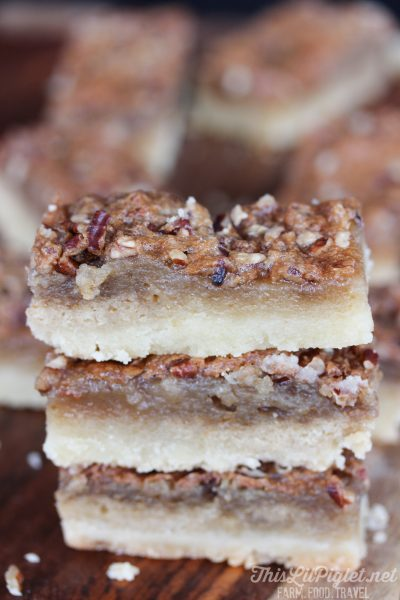Pecan Butter Tart Shortbread Bars