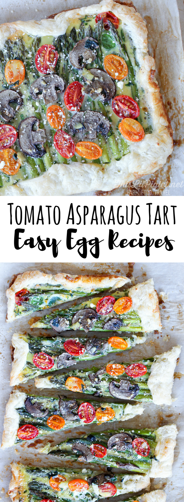 Tomato Asparagus Tart: Easy Christmas Recipes for Holiday Entertaining / /thislilpiglet.net