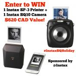 #InstaxSQHoliday Giveaway and Twitter Party