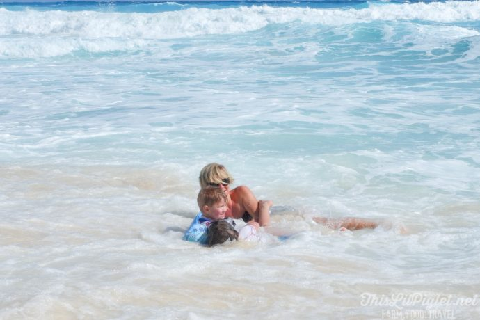 Family Vacations for All Ages at Cancun Paradise Club Resort: Things to Do - White Sand Beach Family Fun Jumping Waves // thislilpiglet.net