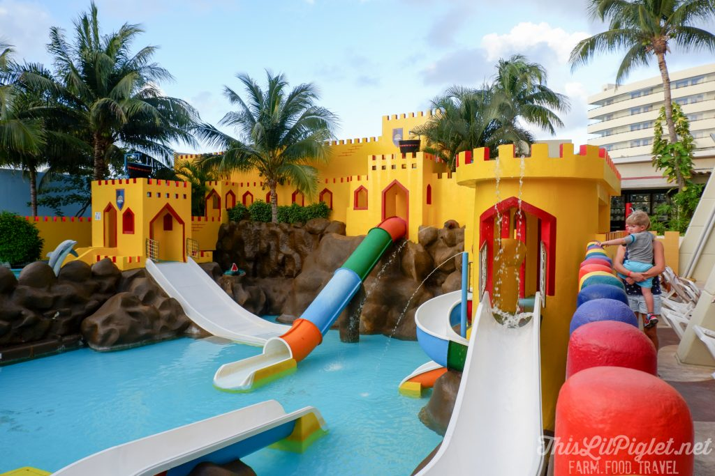 Family Vacations for All Ages at Cancun Paradise Club Resort: Things to Do - Kids Club Water Park Pirate Ship // thislilpiglet.net