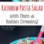 Rainbow Pasta Salad with Italian Dressing