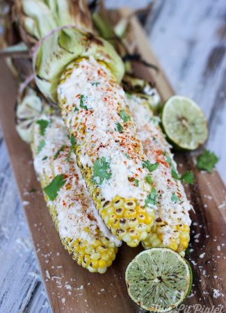 Grilled Mexican Street Corn // thislilpiglet.net