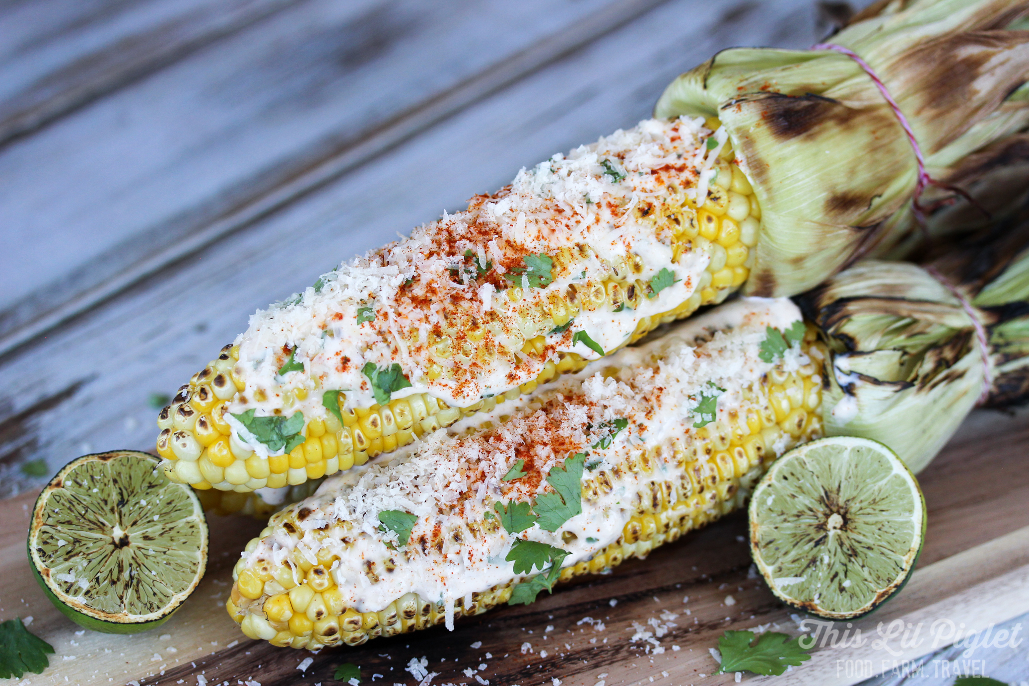 Grilled Mexican Street Corn for Cinco de Mayo // thislilpiglet.net