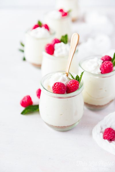No Bake Lemon Cheesecake Mousse Cups