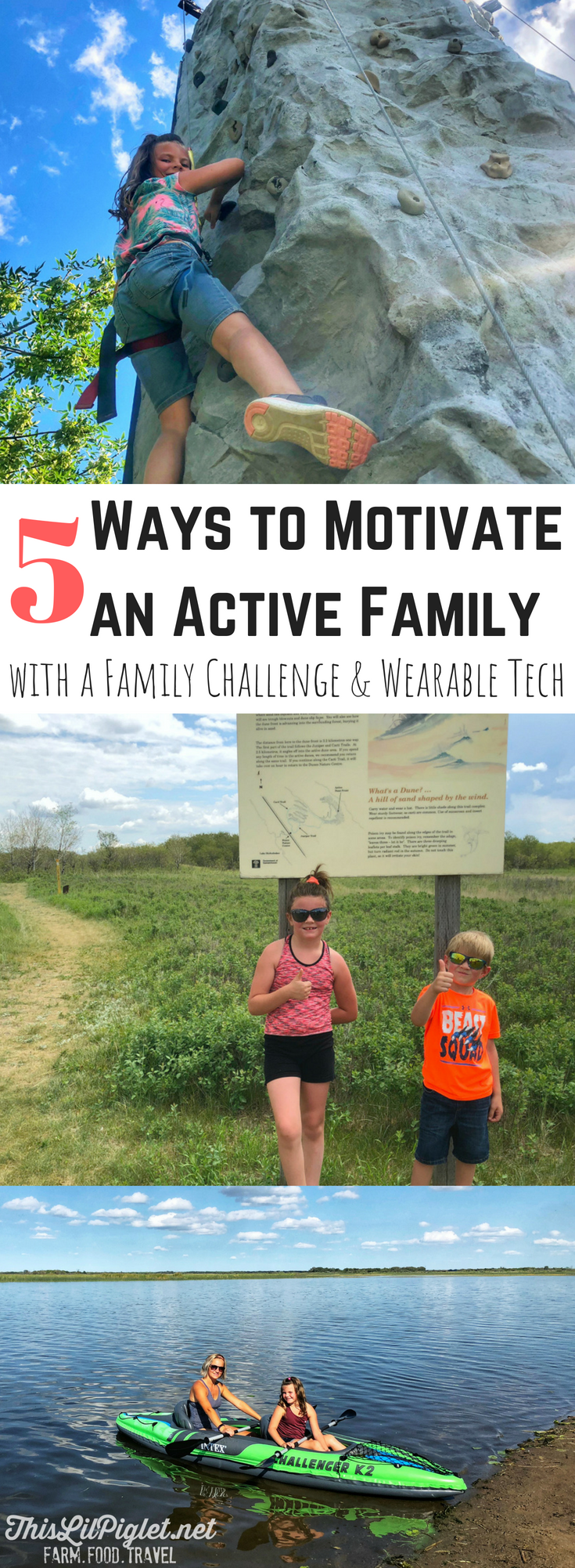 5 Ways to Motivate an Active Family with a Fit Family Challenge and Wearable Tech // thislilpiglet.net