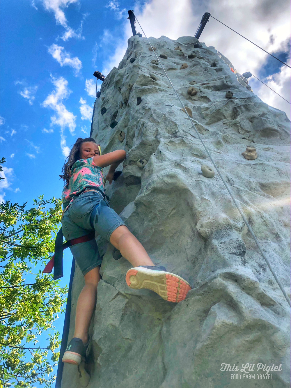 Fit Family Challenge to MOVE with Wearable Tech - Rock Climbing // thislilpiglet.net
