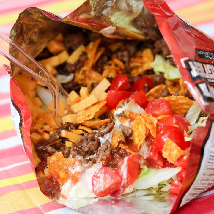 Top 10 Great Camping Recipes: Camping Food: Campfire Taco In A Bag