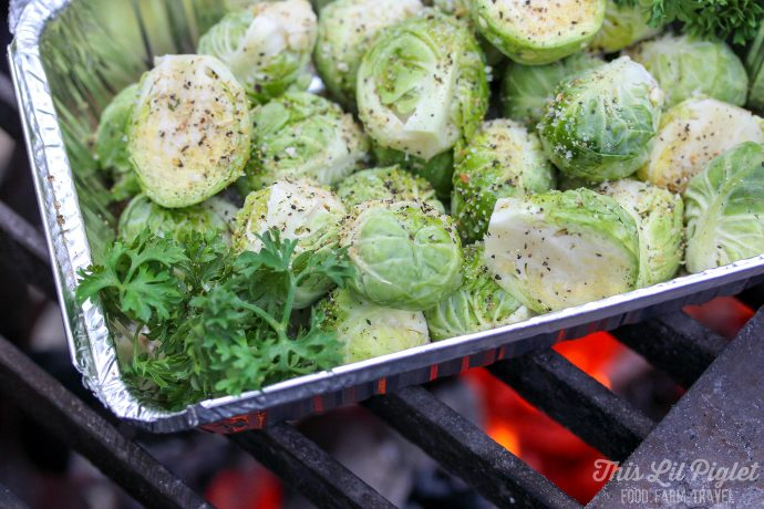 Roasted Campfire Brussels Sprouts // thislilpiglet.net