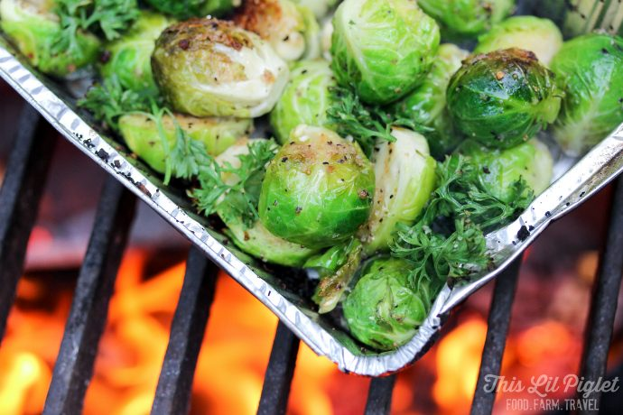 Balsamic Campfire Brussels Sprouts // thislilpiglet.net