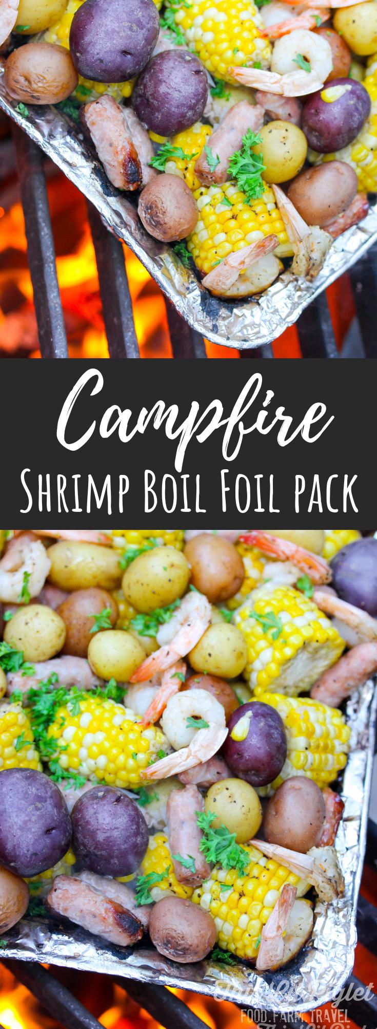 Camping Food: Campfire Shrimp Boil Foil Pack // thislilpiglet.net