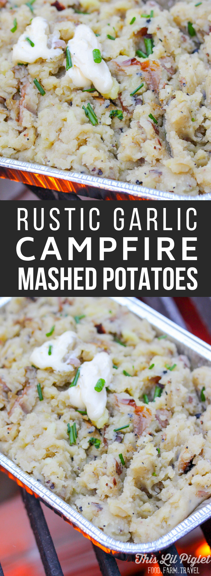 Camping Food: Rustic Campfire Garlic Mashed Potatoes // thislilpiglet.net