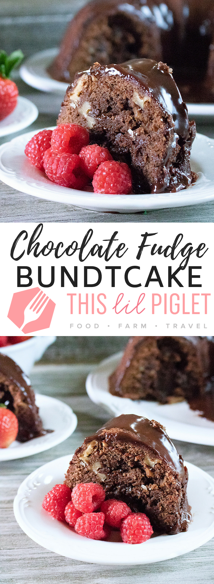 Chocolate Fudge Bundt Cake with Chocolate Ganache and Walnuts // thislilpiglet.net