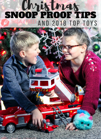Christmas Snoop Proof Tips and 2018 Top Toys // thislilpiglet.net