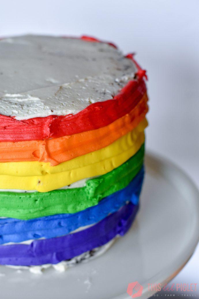 Baileys Chocolate Rainbow Cake Icing // thislilpiglet.net