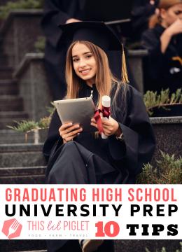 Graduating High School University Prep // thislilpiglet.net