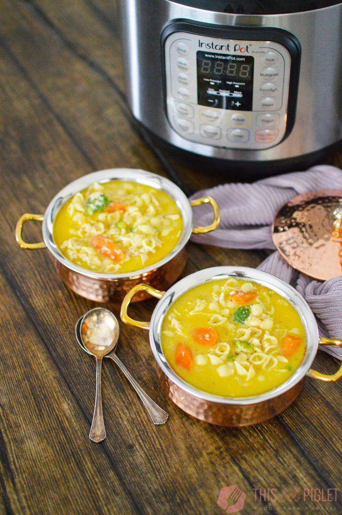 Instant Pot Chicken Noodle Soup // thislilpiglet.net