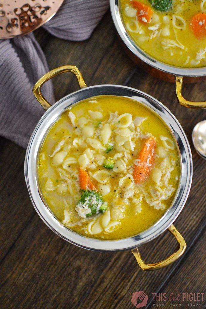 Instant Pot Whole Chicken Noodle Soup // thislilpiglet.net