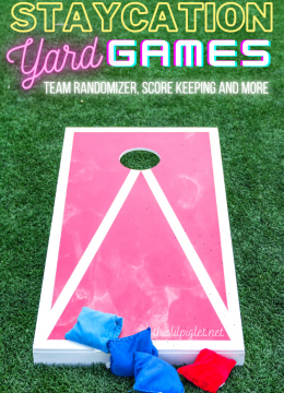Staycation Yard Games, Camping Friendly // thislilpiglet.net